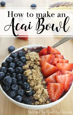 Add the superfood acai berry to your breakfast with this healthy smoothie bowl recipe.