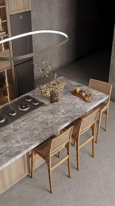 Art Deco Kitchen, Kitchen Room Design, Home Room Design, Dream Home Design, Modern Kitchen Design, Home Decor Kitchen, Interior Design Kitchen, Interior Decorating, Küchen Design
