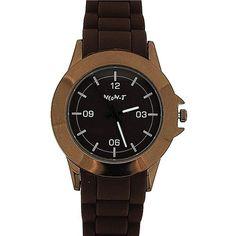 Neon-T Unisex Analogue All Dark Brown Silcone Strap Sports Watch NE050