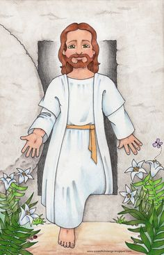 susan fitch design: Jesus is Risen Primary Songs, Primary Singing Time, Lds Primary, Primary 2014, Jesus Has Risen, Lds Clipart, Jesus Cartoon, Primary Chorister, Sunday School Crafts