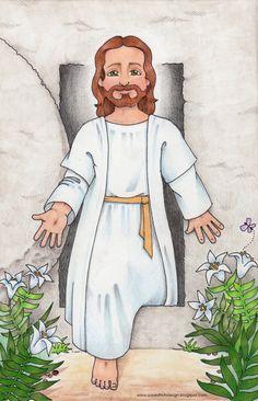 JESÚS, MURIÓ EN LA CRUZ PARA SALVARNOS. PERO AL TERCER DÍA RESUCITÓ, VENCIENDO AL MAL Y AL PECADO. HOY JESÚS VIVE, VIVE ENTRE NOSOTROS Y CON CADA UNO DE NOSOTROS. ES NUESTRO MEJOR AMIGO.