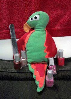 Doudou perroquet www.funkysunday.com