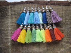Mini Jewelry Tassels (cotton)  We love tassels! They are so bohemian and so artistic. They are such a versatile accessory to use for jewelry making. #tassels #smalltassels #shorttassels #cotton #cottontassels #minitassels #tinytassels #jewelry #jewelrytassels #colors #springcolors
