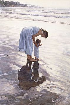 "Standing on Their Own Two Feet by Steve Hanks ANNIVERSARY CANVAS EDITION Image size: 18""w x 27""h.  Limited Edition of: 100"