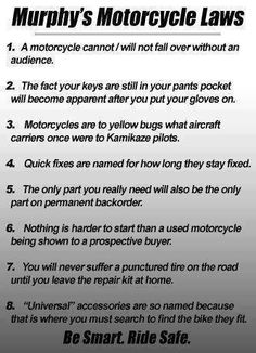 Murphy's Motorcycle Laws