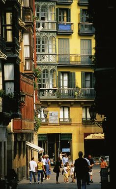 Calle del Casco Viejo. Old Quarter of Bilbao. (Basque ancestor, Maria Carmen Abaytua, died here-L)