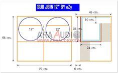 Skema box J-bin 12 inch Dobel Mantap Subwoofer Box Design, Speaker Box Design, Bodybuilding Equipment, Speaker Plans, Diy Speakers, Audio Equipment, Car Audio, Monitor, How To Plan