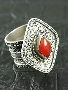 AFGHAN TURKOMAN AUTHENTIC TRADITIONAL WITH CARNELIAN STONE