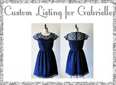 CUSTOM+LISTING+for+Gabrielle++Laudree+Navy+custom+fit+by+mfandj,+$75.00