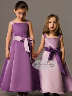 The design of Satin A Line Flower Girl Dress is not very casual or simple to say that these dresses for a wedding dresses are not for formal weddings.