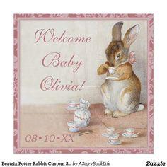 Beatrix Potter Rabbit Custom Sip and See Tea Party Perfect Poster