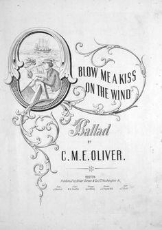 http://poshparis.etsy.com    Vintage music cover. Digital image. Blow me a kiss.