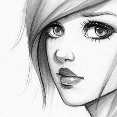 #drawing #girl #eye #hair #face