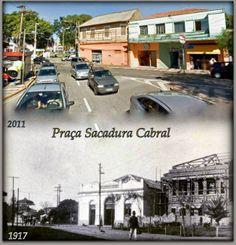 Redescobrindo o Alto Tietê: Antes e depois - Praça Sacadura Cabral