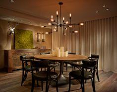 RS3 Designs | Interior Design | Fort Lauderdale | Harbor Beach | Dining | Restoration Hardware | Furniture | Lighting | Sconces | Chandelier | Accessories | Decor | Wallpaper | Greenery | Drapery | Window Treatment http://www.bykoket.com/inspirations/