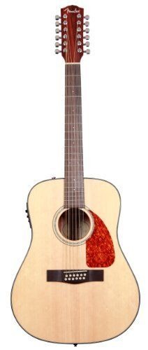 Fender CD-160SE-12 Dreadnought 12 String Acoustic Electric Guitar, Natural by Fender. $399.99. New and improved for 2011. The stage-worthy CD-160SE 12-String offers lush, full 12-string sound in natural- and black-finish models with a solid spruce top and mahogany back, sides and neck.  Upgrades include a new tortoise shell pickguard (natural finish model) or black pickguard (black finish model), new mother-of-pearl rosette design, new compensated rosewood bridge design, a...
