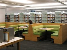 Study Booths- I like this idea because students often study late in restaurants!  It gives you a casual place in the library to gather with friends or groups.  by dasayork, via Flickr