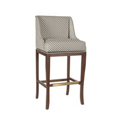 Marcello Barstool with Brass Nail Head Trim