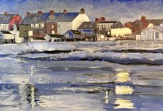 Take a look at this recent entry to our competition by Justin Twigg - Paint a seascape or harbour scene to win copies of David Bellamy books from Search Press Storm Surge, Painting Competition, Seascape Paintings, Art Studies, Kite, Waves, Scene, Watercolor, Search