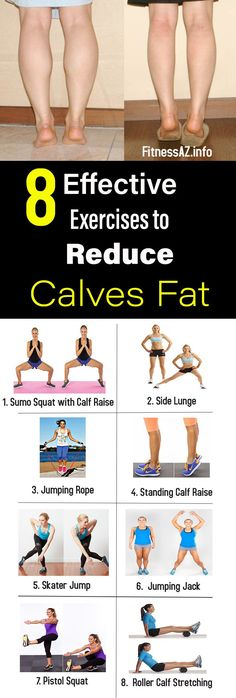 8 Effective Exercises to Reduce Calves Fat #calves #fat #weightlose #health #fitness #beauty
