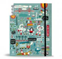 """Monoblock :: Industry of imagineering  Agenda 2014 """"San Francisco"""" Ilustración por Carles Ballesteros  Formato: 15 x 21 cm. 160 páginas. Semana a la vista. Agenda telefónica."""