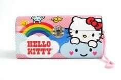 Hello Kitty Tin Clutch Purse - Rainbow
