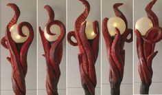 DIY Tutorial Staff of Kraken - Chrix Design: Sea Goddess - Making the staff of Kraken Costume Tutorial, Cosplay Tutorial, Cosplay Diy, Diy Tutorial, Diy Costumes, Cosplay Costumes, Wizard Staff, Wizard Wand, Helloween Party