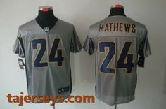 Nike San Diego Chargers 24# Ryan Mathews Grey Elite Jersey [Shadow Jersey] Price:$22