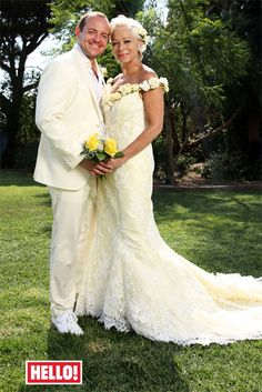 Denise Welch marries Lincoln Townley in a 'fairytale' wedding in the Algarve, in front of 260 friends and family