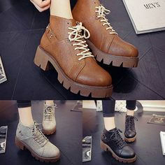 """""""Cute Casual  PU Boots. Size: 35, 36, 37, 38, 39. Color: Brown, Grey, Black. Price: Rs. 1630/-"""" Photo taken by @changing.seasonss on Instagram, pinned via the InstaPin iOS App! http://www.instapinapp.com (09/05/2015)"""