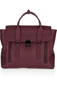 3.1 Phillip Lim  Pashli leather tote- I need the Pashli is this Aubergine color to keep my navy and black pashli's company