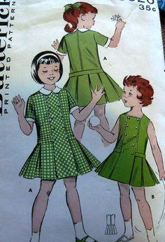 LOVELY VTG 1950s GIRLS DRESS BUTTERICK Sewing Pattern 4