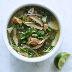 Asian-Inspired Chicken Soup - Great for recovering from colds!