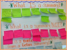 I'm popping in to share an activity I did to get kids thinking about summarizing nonfiction texts. I got this idea from the fantastic Krist. Summary Writing, Writing Strategies, Essay Writing, Small Business Plan Template, Math Homework Help, Math Anchor Charts, Math Courses, 2nd Grade Reading, Custom Writing