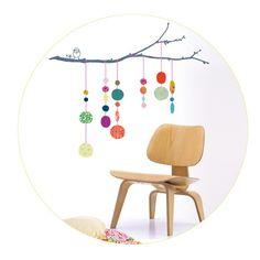 Sticker mural chambre enfant Fils de perles : Mimi'lou - Stickers nature - Berceau Magique