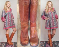 Womens Vintage Frye Campus Boots size 6 or by ClassicRockCouture