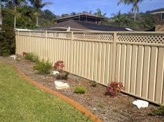 colorbond fence rolled lattice and double gates color fencing