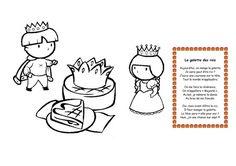 Dessin roi et reine galette recherche google f te des - Deco galette des rois ...