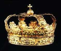 Crown of gold, belonging to Charles X Gustav of Sweden, ca 1660.