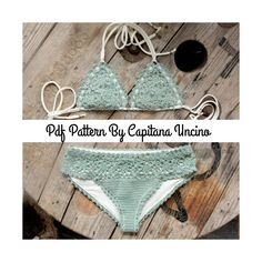 PDF, Crochet PATTERN for Doris Lingerie Crochet Bikini Top and Bottom, With Lining, Sizes XS-L by CapitanaUncino on Etsy