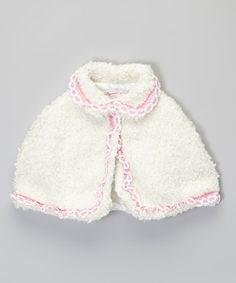 Love this White Fluffy Cape - Toddler & Girls on #zulily! #zulilyfinds