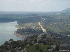 Views from Alange castle. Read more: http://www.piggytraveller.com/blog/extremadura-castles-castillo-de-alange/