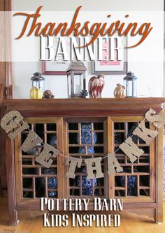 printable template! Must make! Cute and easy DIY banner for Thanksgiving Inspired by Pottery Barn kids