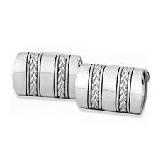 J. Goodman Sterling Silver Cufflinks w/Oxidized Braid. #jewelry