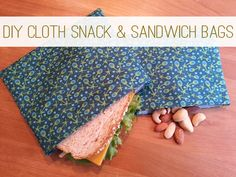 **this is the best tutorial for 1 ply snack bags!  How to Make Reusable Snack & Sandwich Bags at lifeyourway.net