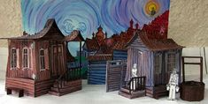 Fiddler on the Roof painted model - Hilland Theatre