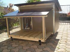 Niche pour chien : niche mettalique American Staffordshire Terriers, Niches, Wood Work, Gazebo, Rolls, Woodworking, Outdoor Structures, Gardening, House