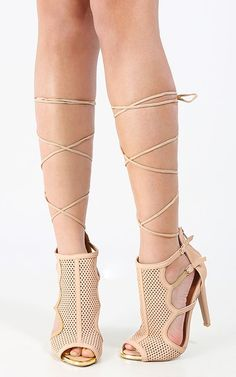 Sport a sexy lace up mesh booties! | MakeMeChic.com