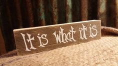 It is What it is Block by TheCountryShed on Etsy