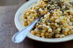 harmony made this regularly last summer because it is so tasty. if you have never made a salad with raw corn before give this one a try. you won't be disappointed.  summer corn salad - www.101cookbooks.com